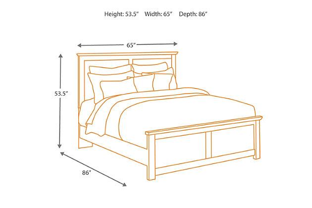Maribel Queen Panel Bed, Black, large