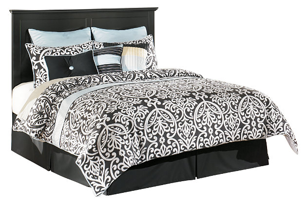 Maribel Queen/Full Panel Headboard, Black, large