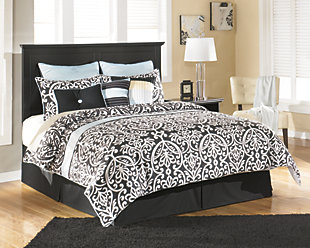 Maribel Queen/Full Panel Headboard, Black, rollover