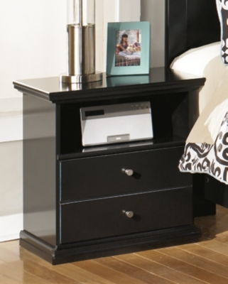 Drawer Night Stand Black One Product Photo