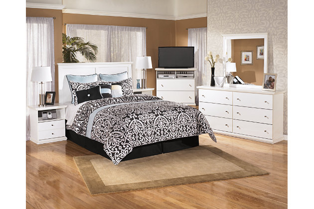 Bostwick Shoals Queen/Full Panel Headboard, White, large