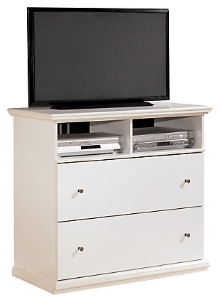 Maribel Media Chest, White, large