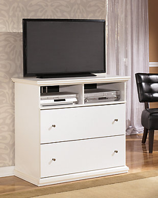 Maribel Media Chest, White, rollover