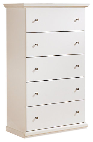 Maribel Chest of Drawers, White, large