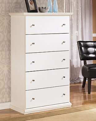 Maribel Chest of Drawers, White, rollover
