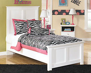 Bostwick Shoals Twin Panel Bed, White, large