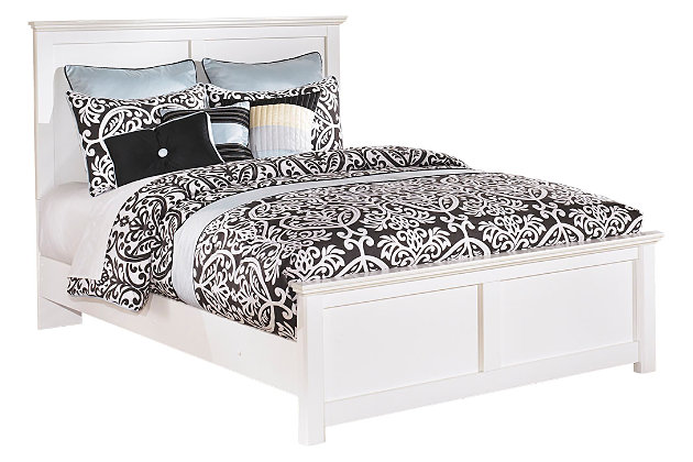 Bostwick Shoals Queen Panel Bed, White, large