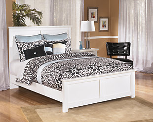 Bostwick Shoals Queen Panel Bed, White, rollover