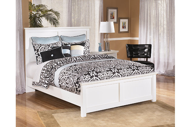 Bostwick Shoals Queen Panel Bed White Large