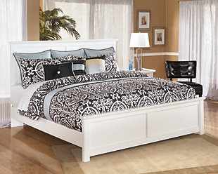 Bostwick Shoals King Panel Bed, White, large