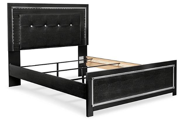 Kaydell Queen Upholstered Panel Bed, Black, large