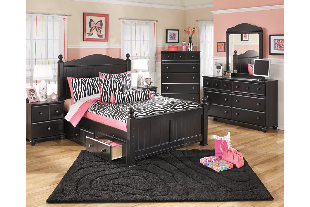 Black Jaidyn Full Poster Bed with 2 Storages by Ashley HomeStore