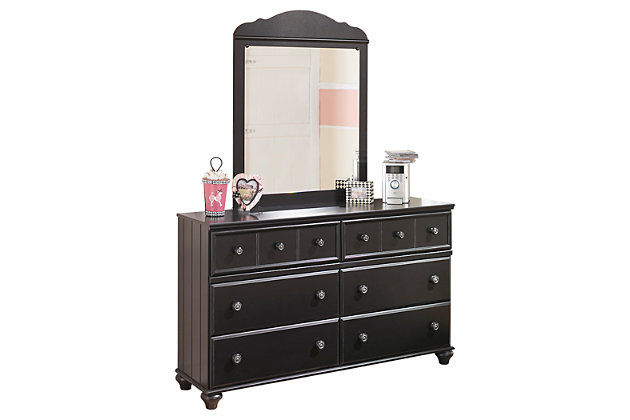 Black Jaidyn Dresser and Mirror by Ashley HomeStore