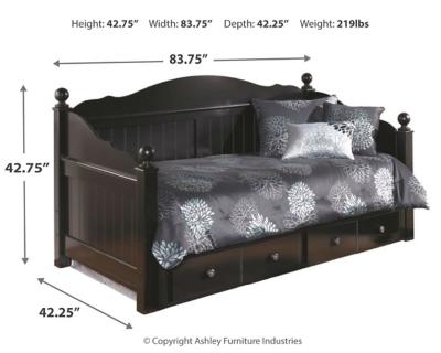Jaidyn Daybed With Storage Ashley Furniture Homestore