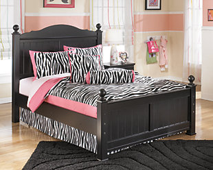 Jaidyn Full Poster Bed, Black, rollover