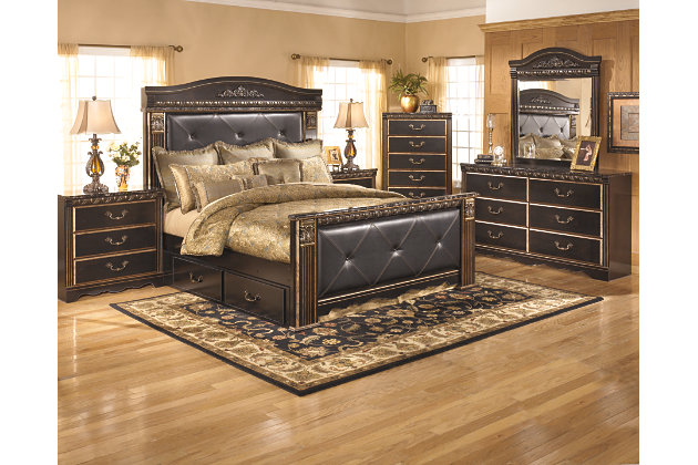 Coal Creek King Mansion Bed with Storage, , large