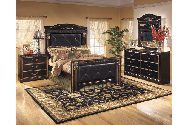 Coal Creek King Mansion Bed, Dark Brown, large
