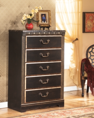 Ashley Coal Creek Chest of Drawers, Dark Brown