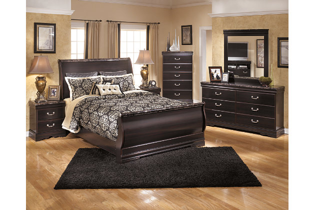 Esmarelda Queen Sleigh Bed Ashley Furniture Homestore