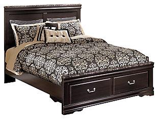 Esmarelda Queen Panel Bed with Storage, , large
