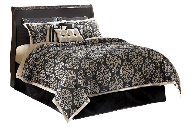 Esmarelda Queen Sleigh Headboard, , large