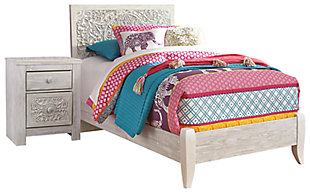 Paxberry Twin Panel Bed with Nightstand, , large