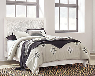 Paxberry Queen Panel Bed, Whitewash, rollover