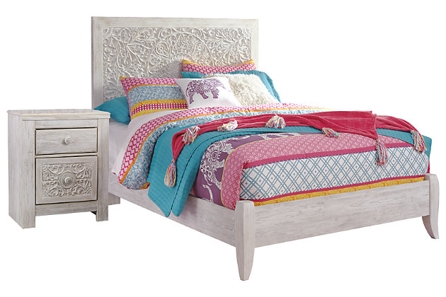 Paxberry Full Panel Bed with Nightstand, , large