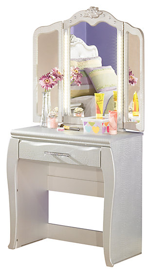 Zarollina 2-Piece Vanity and Mirror, , large