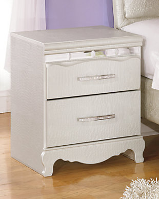 girl bedroom furniture. Zarollina Nightstand  large rollover Girls Bedroom Furniture Ashley HomeStore
