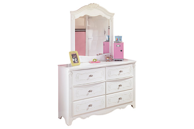 White Exquisite Dresser and Mirror by Ashley HomeStore