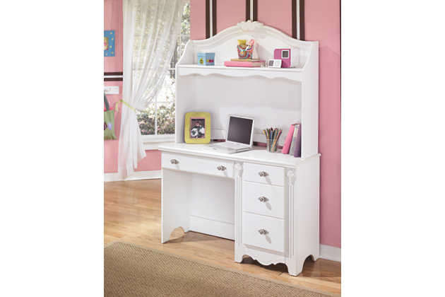 Exquisite Desk and Hutch by Ashley HomeStore, White