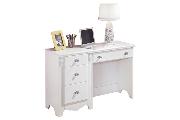 White Exquisite Bedroom Desk by Ashley HomeStore