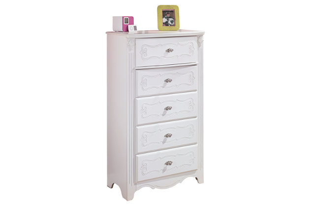 Exquisite Chest of Drawers by Ashley HomeStore, White