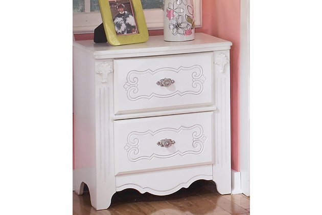 Exquisite Nightstand by Ashley HomeStore, White