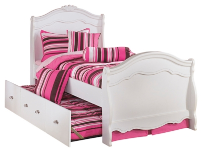 Exquisite Full Sleigh Bed With Trundle Ashley Furniture Homestore