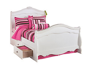 Exquisite Twin Poster Bed with Storage, , large