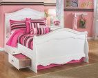 Exquisite lit bateau double avec 2 rangements meubles for Meuble ashley prix