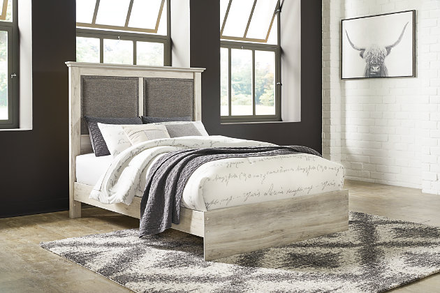 Cambeck Queen Upholstered Panel Bed with Dresser, , large