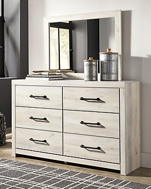 Cambeck Twin Panel Bed with Mirrored Dresser, Chest and Nightstand, , large