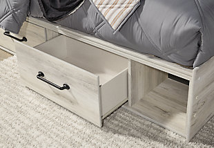Cambeck Twin Panel Bed with 4 Storage Drawers with Mirrored Dresser, Chest and Nightstand, , large