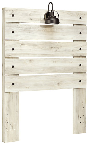 Cambeck Twin Panel Headboard, Whitewash, large