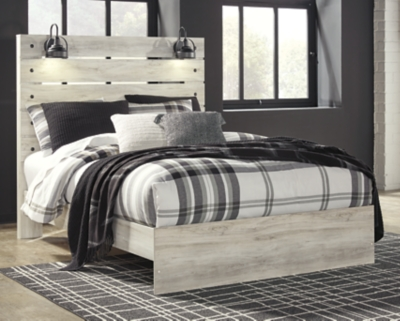 Cambeck Queen Panel Bed, Whitewash, large