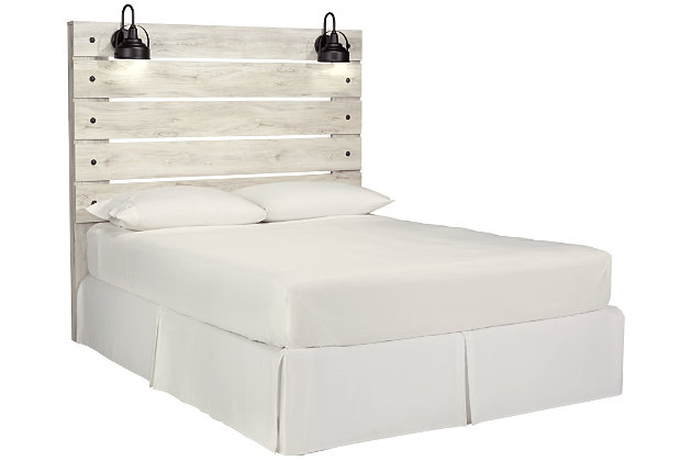 Cambeck Queen Panel Headboard, Whitewash, large