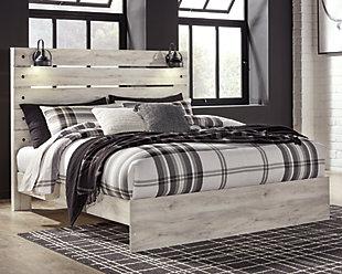 Cambeck King Panel Bed, Whitewash, large