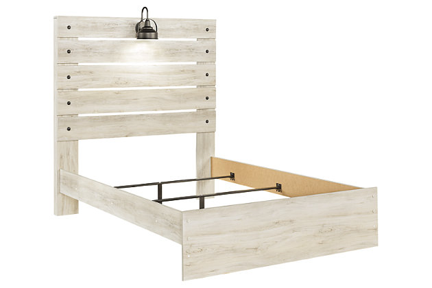 Cambeck Full Panel Bed, Whitewash, large