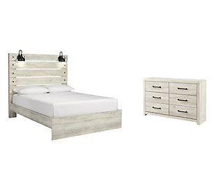 Cambeck Queen Panel Bed with Dresser, Whitewash, large