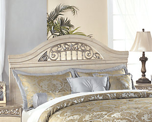 Catalina Queen/Full Panel Headboard, Antique White, large
