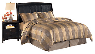 Harmony King Sleigh Headboard, Dark Brown, large