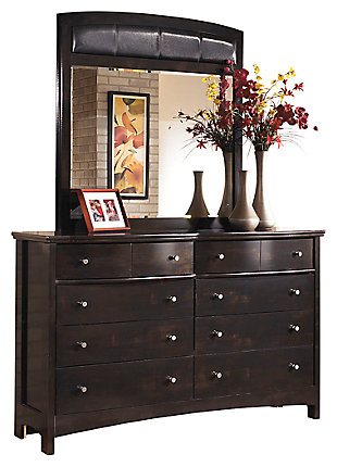Harmony Dresser and Mirror, Dark Brown, large